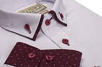 """Біла святкова сорочка для хлопчика """"Княжич"""" на ріст 116-170см"""