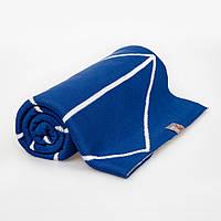 Плед дитячий в'язаний GEOMETRY Синій двосторонній, фото 1