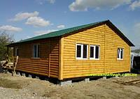 Домик дачный 8м х 6м из блокхауса 30мм с террассой., фото 1