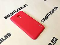 Силиконовый TPU чехол SMTT для Meizu M5 красный, фото 1
