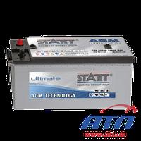 Аккумулятор 6CT-225 Аз (3) AGM Start Ultimate, левый +, 1400А