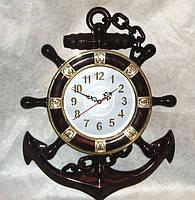 Оригинальные настенные часы штурвал и якорь