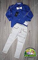 Нарядный костюм: яркая рубашка Armani и белые брюки