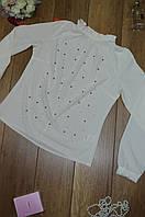 Женская блуза жемчуг воротник стойка