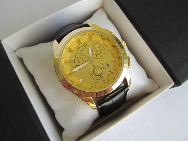 Мужские жёлтые  часы тиссот