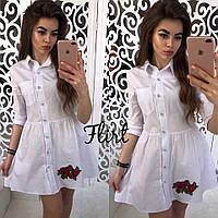 Короткое платье - рубашка