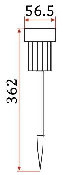 садовый светильник на солнечной батарее размеры