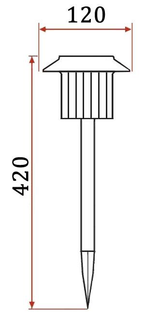 садовый светильник на солнечной батарее схема