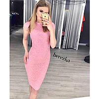 Стильное женственное красивое кружевное платье