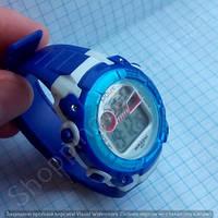 Детские часы Polit 633 в колбе с подсветкой число месяц день недели будильник секундомер