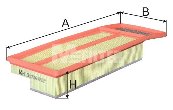 Фильтр воздушный M-Filter K7006 (078/1 AP)