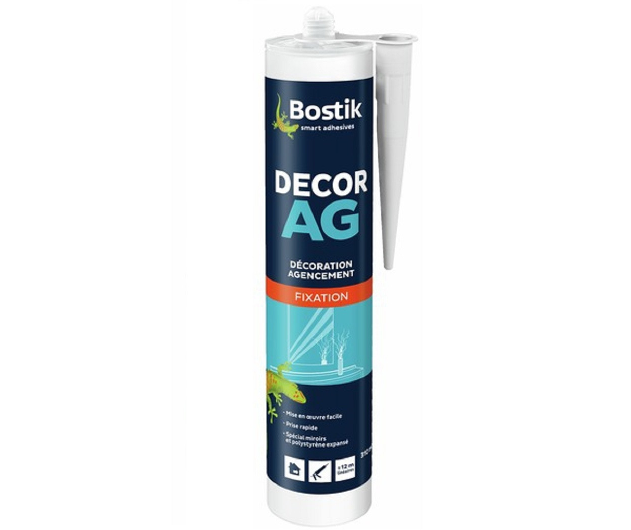 Клей бутадієн-стироловий BOSTIK DÉCOR AG посилений для будь-яких декоративних елементів кремовий, 310мл