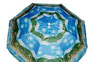 Зонт пляжный 1,8 м серебро с наклоном 081
