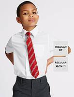 Школьная рубашка белая с коротким рукавом на мальчика 6-7-8-9 лет Easy to Iron Marks&Spencer (Англия)