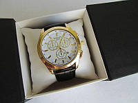 Мужские наручные часы Tissot (Тиссот) золото с белым циферблатом
