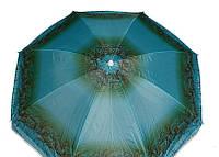 Зонт пляжный 2,00м серебро, наклон, ромашка 28PR