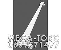 Держатель кронштейна 60 см цвет белый металлик