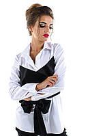 Рубашка  с атласным корсетом