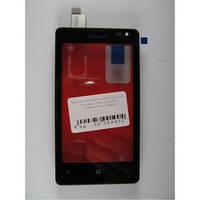 Тачскрин для Microsoft 435 Lumia Dual Sim/532 (RM-1069), черный, оригинал (Китай)