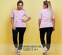 Модный костюм с люверсами в расцветках БАТ 350 (040)