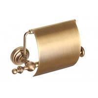 """Держатель туалетной бумаги с крышкой """" Richmond"""" (латунь/bronze)"""
