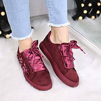 Кроссовки женские криперы Diamonds бордо 3478, спортивная обувь
