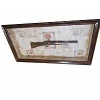 Картина Мушкет деревянная