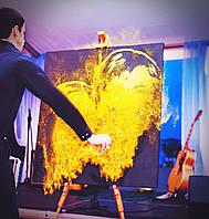 Шоу Золота пил, портрет золота пудра у Львові Чернівці Київ Днепр, фото 1