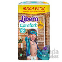 Подгузники Libero Comfort Hero Collection, размер 6 (12-22 кг), 72 шт.