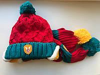 Шапочка от 1-3 лет с шарфом комплект