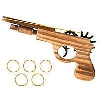 Деревянный пистолет, стреляющий резинками!