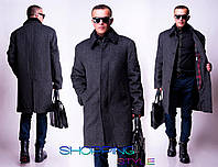 Теплое мужское кашемировое пальто