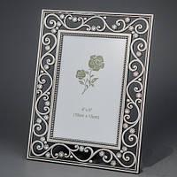 """Фоторамка """"Алмазные цветы"""" 16х21 см, для фото 10х15 см"""