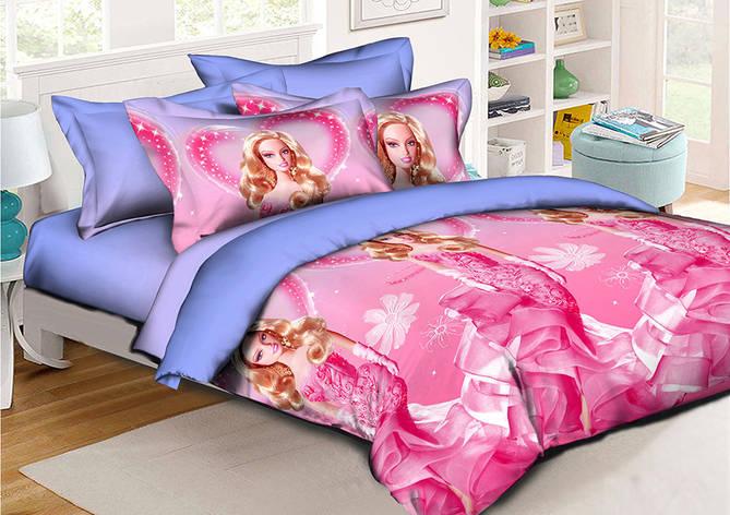 Детское постельное белье Барби 150*220 хлопок (7673) TM KRISPOL Украина, фото 2