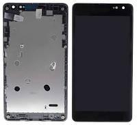 Дисплей для Microsoft 535 Lumia Dual Sim (RM-1090) + touchscreen (CT2S1973FPC-A1-E), черный, с передней панель