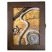 Настенная ключница Морская из дерева