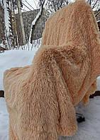 Оригинальное меховое  покрывало с длинным ворсом 160х210 см