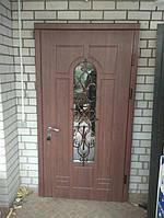 Двери входные со стеклопакетом Балкар-Днепр