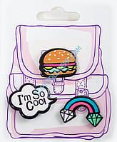 "Набор значков ""Must have"", радуга, гамбургер"
