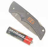 Нож брелок Gerber Bear Grylls Compact Scout серрейтор, фото 3