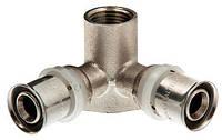 Valtec Пресс-фитинг – угольник с креплением (водорозетка) с наружной резьбой