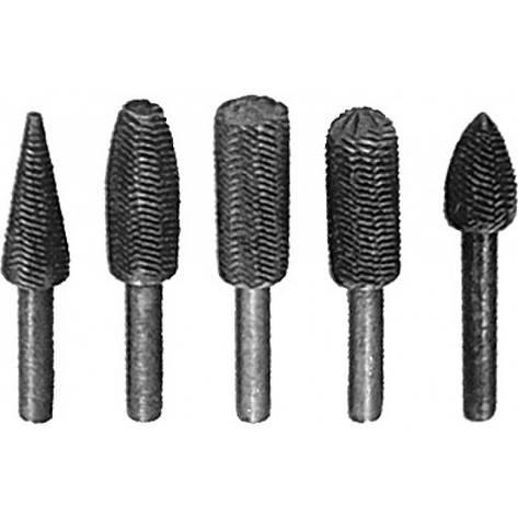 Шарошки металлические для фигурных отверстий, по металлу 5 шт., фото 2
