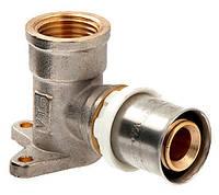 Valtec Пресс-фитинг-угольник с креплением (водорозетка)