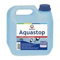 Грунтовка влагоизолятор Эскаро Аквастоп в канистре по 3 литра концентрат 1:5