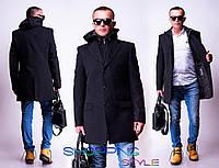 Драповое мужское пальто. Отличное качество!