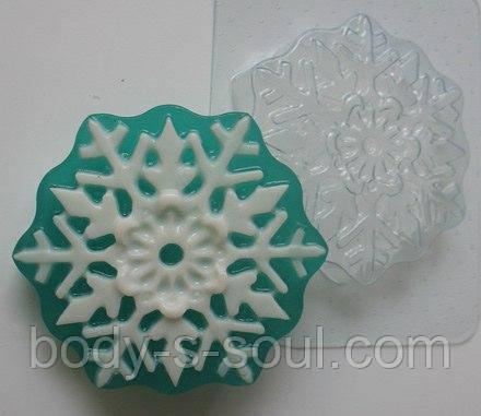 Пластиковая форма для мыла Снежинка