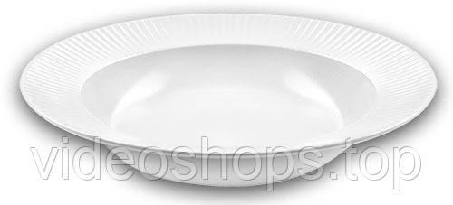 Набор 6 суповых тарелок IPEC Atena Ø23см каменная керамика, белые