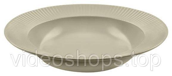 Набор 6 суповых тарелок IPEC Atena Ø23см каменная керамика, бежевые