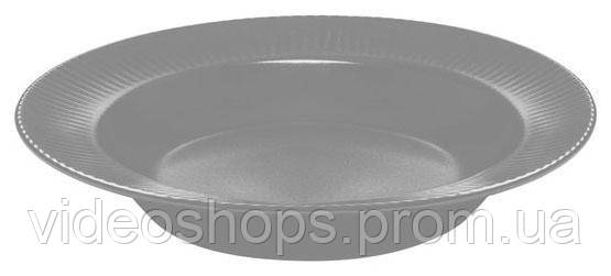 Набор 6 суповых тарелок IPEC Atena Ø23см каменная керамика, серые