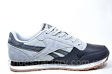 Мужские кроссовки в стиле Reebok Classic Leather PM, Gray, фото 3